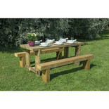 Forest 1.8m Sleeper Bench and Refectory Table Set
