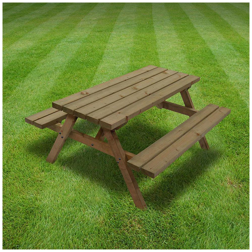 Rutland County OJPBRBR Oakham Junior Picnic Bench Ft Machine - Huge picnic table