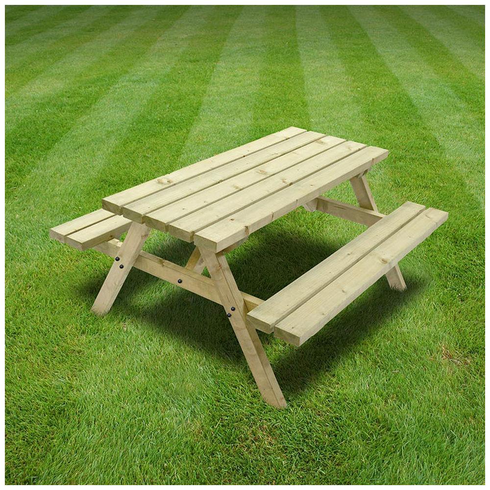 Rutland County OJPBLGR Oakham Junior Picnic Bench Ft Machine - Huge picnic table