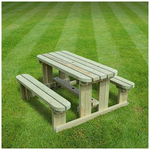 Image of Rutland County Rutland County TJRPB5-LGR Tinwell Junior Picnic Bench - Rounded - 5ft