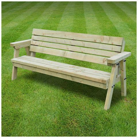 Image of Rutland County Rutland County TGSJ4-LGR Thistleton Junior Garden Seat - 4ft
