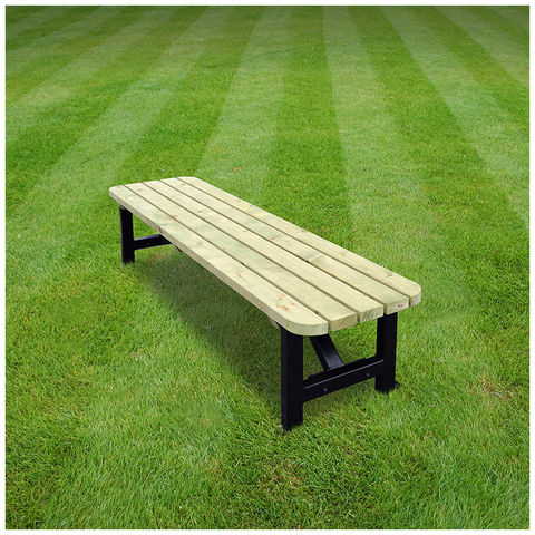 Image of Rutland County Rutland County SKRB7 Ketton Steel Bench Rounded 7ft