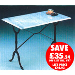 Clarke WMT-3 100cm x 60cm White Rectangle Marble Table
