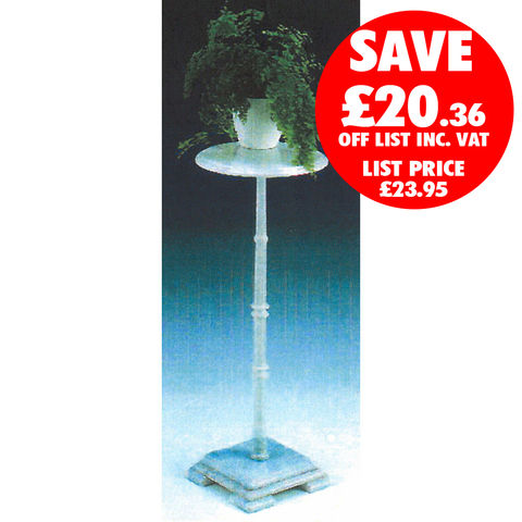 Clarke Clarke WMPS-2 White Marble Plant Stand