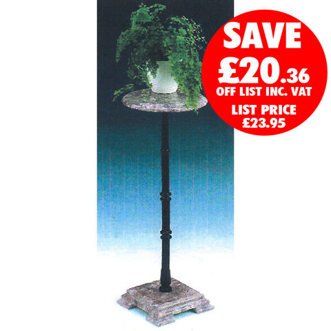 Clarke Clarke RMPS-2 Red Marble Plant Stand