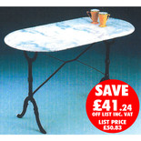 Clarke GMT-2 120cm x 60cm Green Oval Marble Table
