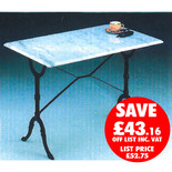 Clarke GMT-3 100cm x 60cm Green Rectangle Marble Table