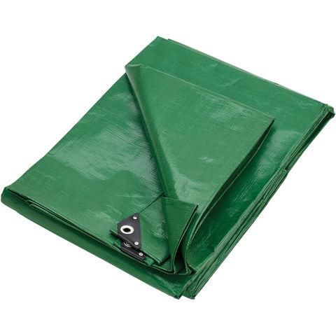 Clarke Clarke 10ft x 12ft (Approx) Heavy Duty Green Polyethylene Tarpaulin