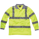 Dickies Hi-Vis long sleeve polo shirt - Medium