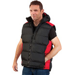 Dickies BW7004 Crayford Black & Red Gillet (XXL)