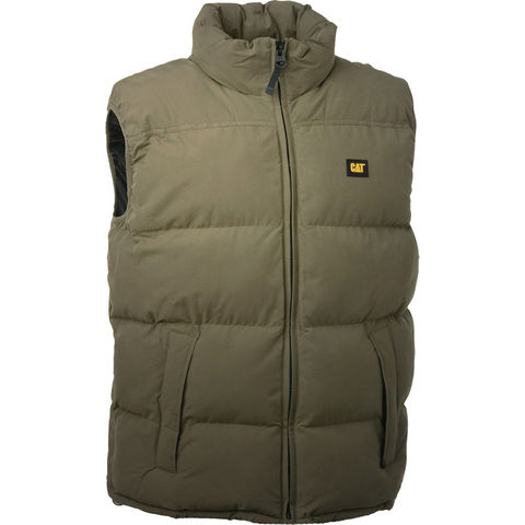 Image of Cat Cat® - Olive Quilted Insulated Vest (S)