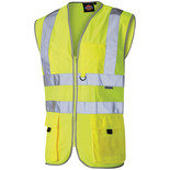 Dickies Hi-Vis 'Technical' Waistcoat - Medium