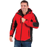 Dickies JW7010 Two Tone Softshell Jacket (Red/Black) - Medium