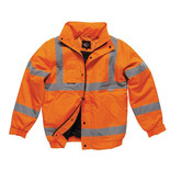 Dickies SA22050 Hi-Vis Bomber Jacket (Orange) - Medium