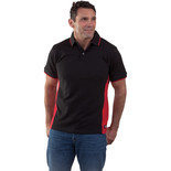 Dickies Two Tone Polo Shirt (Red/Black) – Medium