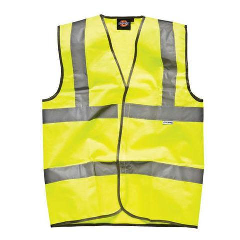 Image of Dark Nights Dickies Highway Safety Hi-Vis Waistcoat - XL