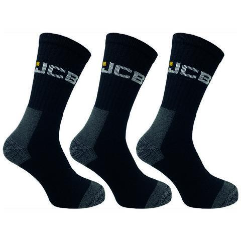 Jcb Jcb Mens Black High Protection Work Socks 3 Pairs