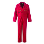 Dickies Redhawk Zip Front Coverall Red Junior 32