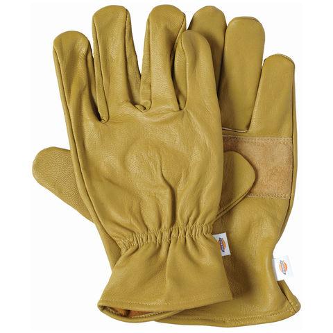 Dickies Dickies Unlined Leather Work Gloves Medium