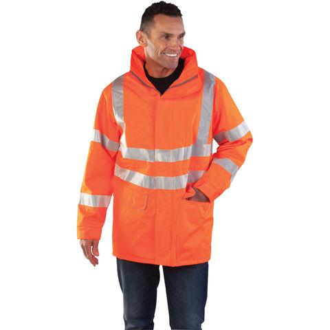 Image of Aqua Aqua Ripstop Premium Weather Jacket Medium Hi-Vis
