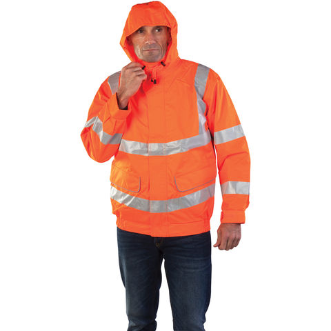 Image of Aqua Aqua Rip Stop Premium Jacket Medium Hi-Vis