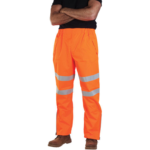 Image of Aqua Aqua Rip Stop Premium Waterproof Trousers Large Hi-Vis