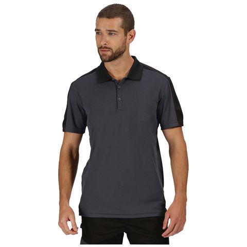 Regatta Regatta Professional Contrast Collection Trs174 Coolweave Polo Shirt Grey