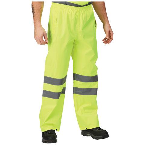 Regatta Regatta Professional Trw498 Hi Vis Pro Packaway Trousers Yellow Or Orange