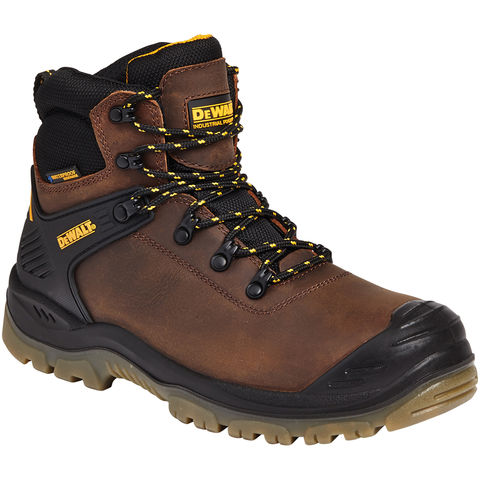 Dewalt Dewalt Newark Brown Waterproof Safety Hiker Boots Sizes 7 To 11