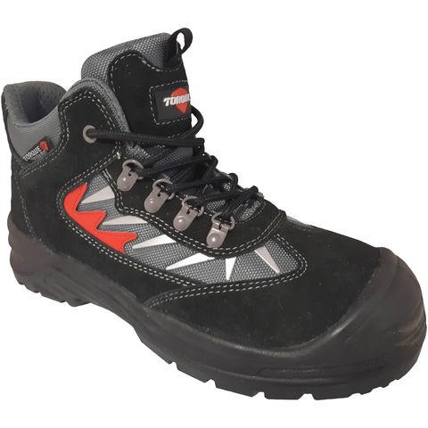 Torque Torque Mews Black Suede Safety Boot Sizes 8 11