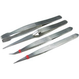 4 Piece Tweezers Set