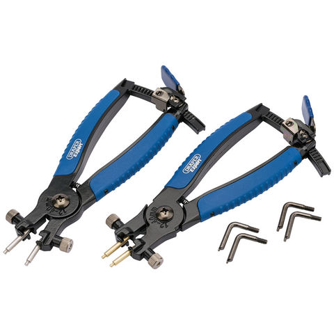 Image of Draper Draper RCP2-SG Internal and External Circlip Pliers (2 Piece)