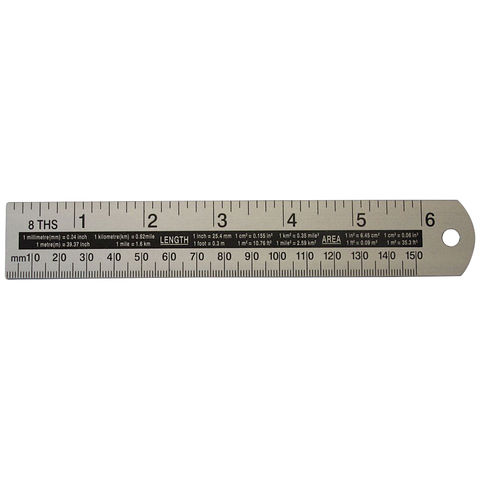 "Image of Machine Mart 6"" Aluminium Rule"