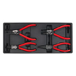 Sealey TBT03 4 Piece Tool Tray Circlip Pliers Set