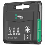 Wera Bit-Box 20 BTH Pz2 BiTorsion Long Life Timber Bits for Drill/Drivers