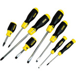 Stanley 8pce Cushion Grip Screwdriver Set