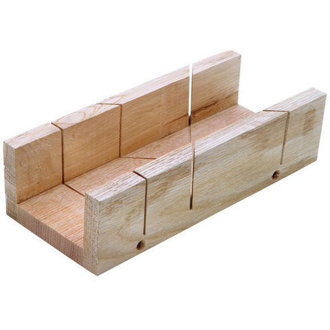 Image of Machine Mart 9 Inch Wood Mitre Box 230mm x 98mm
