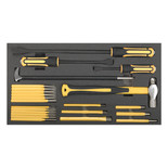 Sealey S01131 23 Piece Tool Tray with Prybar, Hammer & Punch Set