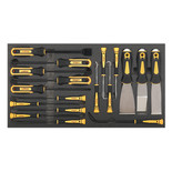 Sealey 18 Piece Tool Tray with Hook & Scraper Set