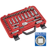 "Clarke PRO223 33 piece 3/8"" Multi Fit Socket Set"