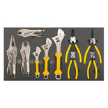 Sealey S01130 10 Piece Tool Tray with Adjustable Spanner & Pliers Set
