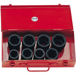 "Clarke CIS19/9M 3/4"" Heavy Duty Metric Impact Socket Set"