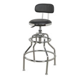 Sealey SCR14 Workshop Stool with Adjustable Height and Back Rest