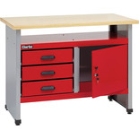 Clarke CWB114 1140mm Workbench With 3 Drawers And Lockable Cupboard