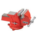 Clarke CVR4RB 100mm Workshop Vice (Swivel Base, Red)