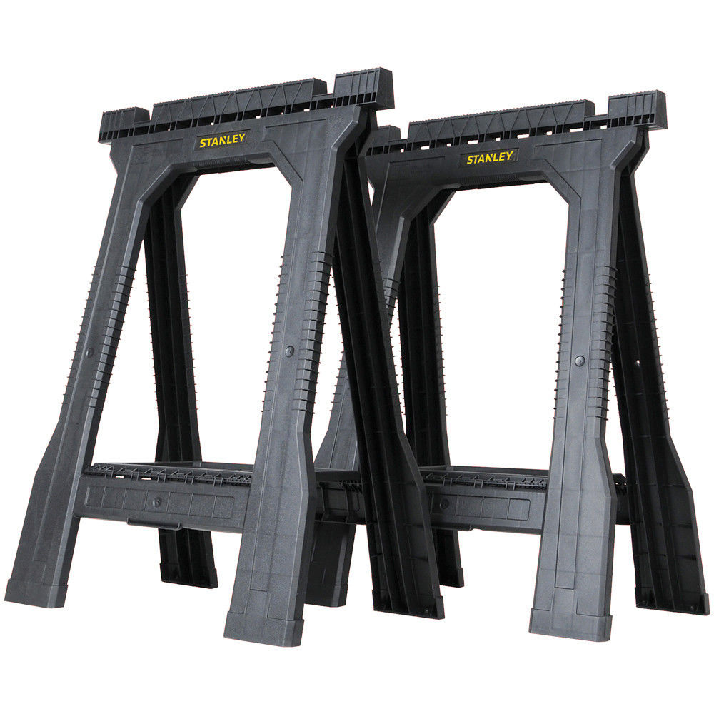 Stanley Stst1 70355 Folding Saw Horse Twin Pack Machine Mart