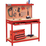 Clarke CWB-R1B Workbench with Pegboard Back Panel & Large Drawer