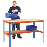 Clarke CWB300LS Heavy Duty Workbench with Shelf