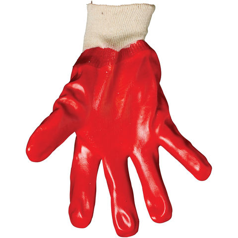 Rodo Rodo Red Pvc Knitwrist Gloves