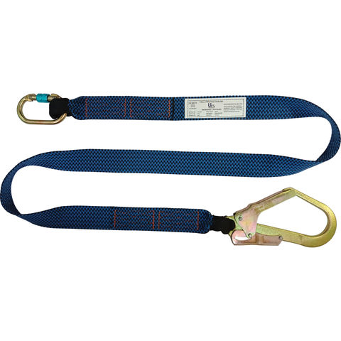 Image of Talurit UFS PROTECTS UT232 2m Webbing Lanyard with Scaffold Hook & Carabiner